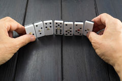 Domino game chips Royalty Free Stock Image
