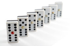 Domino game chips Stock Image
