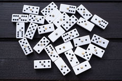 Domino game chips Stock Photo
