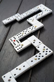 Domino game chips Royalty Free Stock Photography