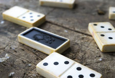 Domino game close-up Stock Photo