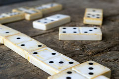 Domino game close-up Royalty Free Stock Photo