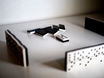 Domino game. Concept stock images