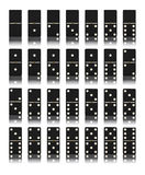 Domino game set. On white Royalty Free Stock Photography
