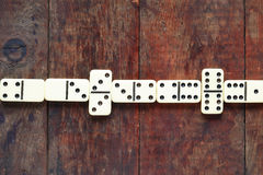 Domino Game On Wood Stock Photos