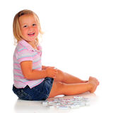 Domino Girl Royalty Free Stock Images