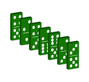 Domino in green Royalty Free Stock Image