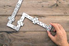 Domino gry układy scaleni Zdjęcia Royalty Free