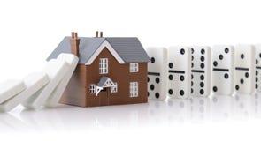 Domino-Haus lizenzfreies stockfoto