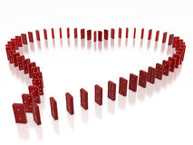 Domino heart Stock Image