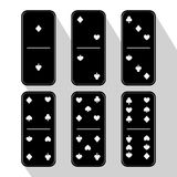 Domino icon illustration of six pieces assorted Stock Image
