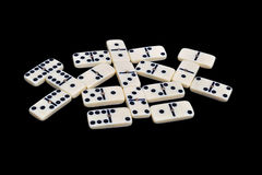 Domino isolated on a black Royalty Free Stock Photo
