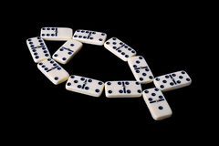 Domino isolated on a black Stock Photo