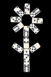 Domino isolated on a black Stock Photography