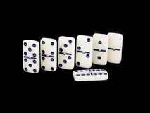 Domino isolated on a black Stock Images