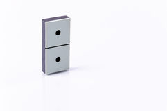 Domino. Isolated on white background Royalty Free Stock Photography