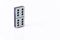 Domino. Isolated on white background Royalty Free Stock Photo