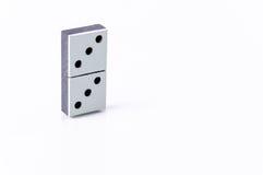 Domino. Isolated on white background Stock Photos