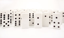 Domino isolated on a white background. Domino set isolated on a white background Royalty Free Stock Photos
