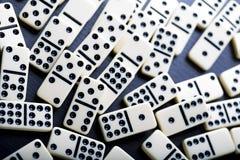 Domino - jeu intéressant Photographie stock libre de droits