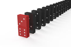 Domino, leader concept Stock Photography