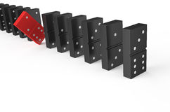 Domino, leader concept Royalty Free Stock Photography