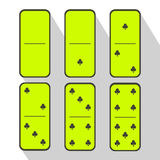 Domino lemon. Zero and one. Club of the six pieces Stock Images