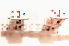 Domino med kulöra prickar Royaltyfri Bild
