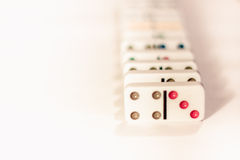 Domino med kulöra prickar Royaltyfria Foton