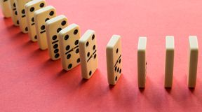 Domino na menchiach zdjęcia royalty free