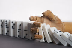 Domino på tabellen Arkivfoto