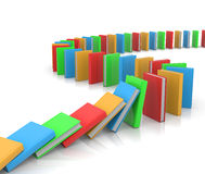 Domino Path of Books Royalty Free Stock Photography