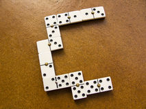 Domino pieces Stock Image
