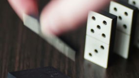 Domino pieces in close up stock video footage