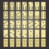 Domino pieces Royalty Free Stock Images