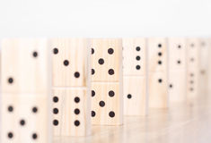 Domino pieces detail Royalty Free Stock Photo