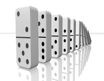 Domino pieces falling 3d illustration . Stock Images