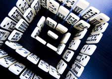 Domino pieces & Labyrinth Royalty Free Stock Image