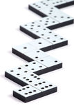 Domino pieces in a line Stock Photography