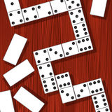 Domino pieces. On the table. Vector illustration stock illustration
