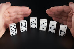 Domino play stock image