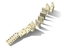 Domino principle Royalty Free Stock Photography