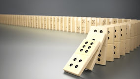 Domino principle Royalty Free Stock Image