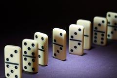 Domino-Prinzip-Konzept Stockfotografie