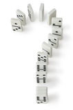 Domino question Royalty Free Stock Image