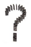 Domino question mark Royalty Free Stock Photos
