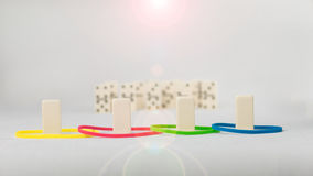 Domino represent human with different psyhological traits based on DISK model. Dominance, inducement, submission, and Royalty Free Stock Images