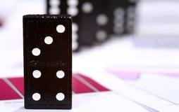 Domino risk Royalty Free Stock Photos