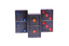 Domino row closeup Stock Image