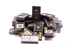 Domino row closeup Royalty Free Stock Photos